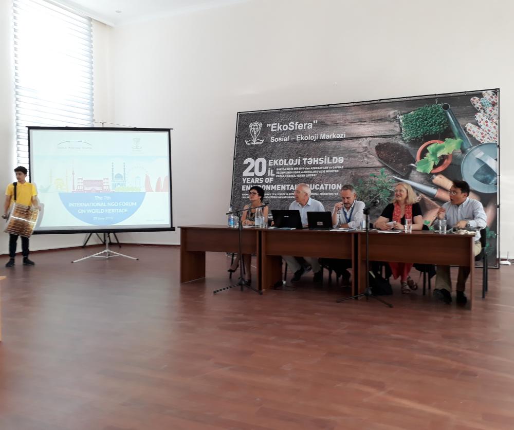 7. internationales NGO Forum Baku Azerbaijan mit WHW und Mechthild Rössler